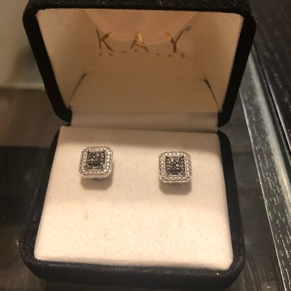 de074d022 Kay Jewelers Jewelry   Kay Chocolate Diamonds Earrings   Poshmark